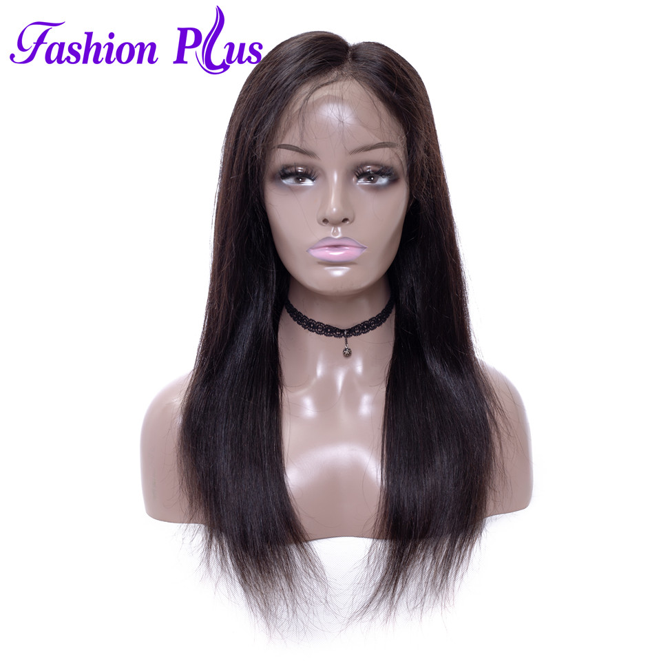 Fashion Plus 360 Lace Frontal Wig Pre Plucked With Baby Hair Brazilian Remy Straight Wig Lace Front Human Hair Wigs For Women