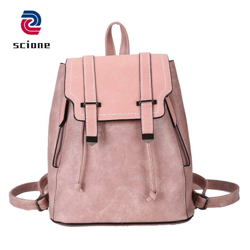 8a9cc039be2 2019 new fahion women backpack pu leather school bags for teenagers ...