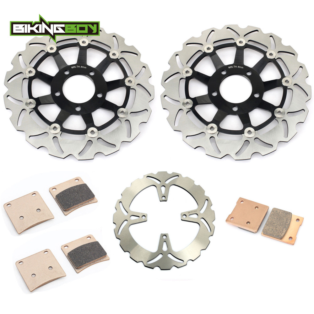 BIKINGBOY Front Rear Brake Discs Disks Rotors Pads for SUZUKI GSX600F GSX750F 1989 1990 1991 1992
