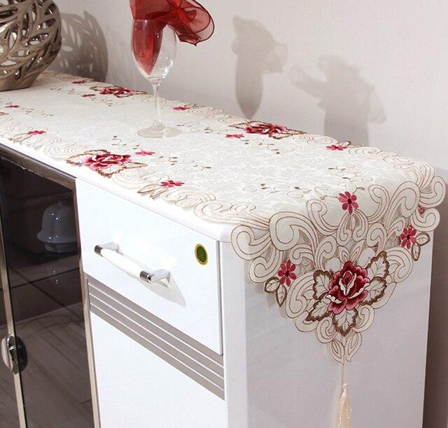 819 Embroidered Table Runner Bed Cover Cloth Tea Flag Tv Cabinet Shoe Dresser Meal Side Towel