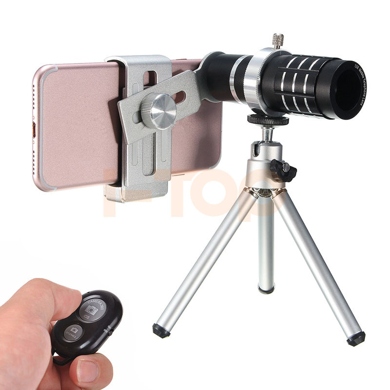 HD 12x Zoom Telephoto Lentes Telescope Camera Lenses For IPhone 6 7 Xiaomi Samsung Cell Phone