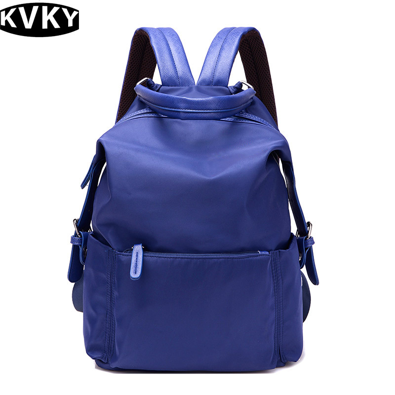 KVKY Woman Nylon Backpack Women s Backpacks For Teenager Girls Nylon School Bag Rucksack Travel Backpack