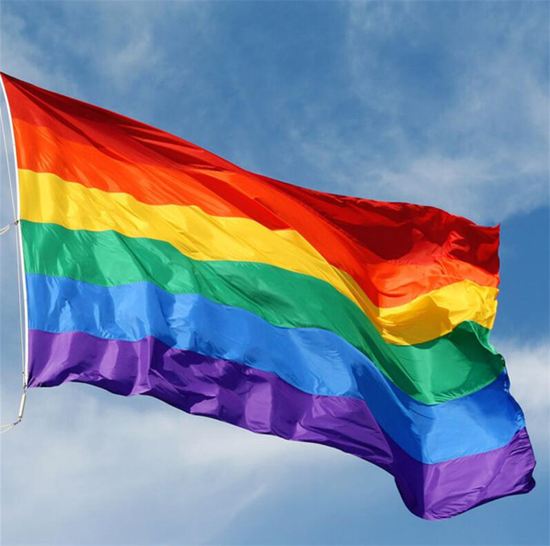 3X5 Ft Rainbow Flag Polyester Lesbian Gay Pride Lgbt Home -2916