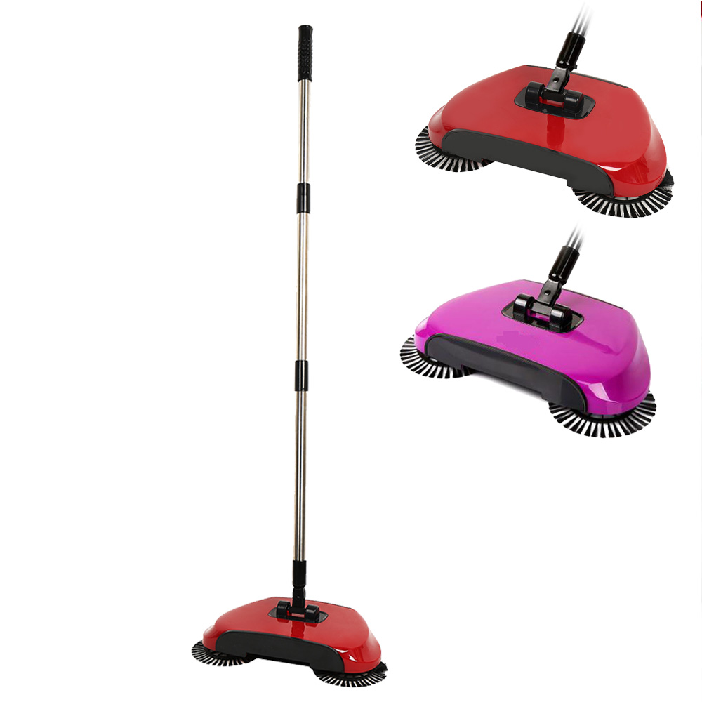 Magic Broom Stainless Steel Sweeping Machine Push Type Hand Push Spin Broom Without Electricity Robotic Hard