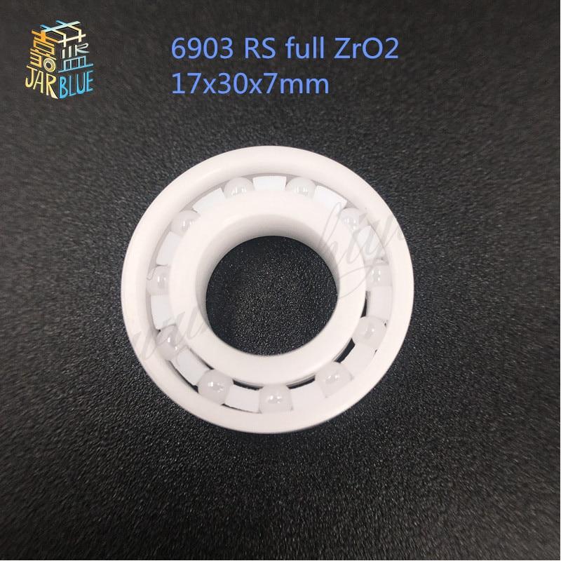 Free shipping 6903 RS full ZrO2 P5 ABEC5 ceramic deep groove ball bearing 17x30x7mm 61903 bike bearing цена и фото