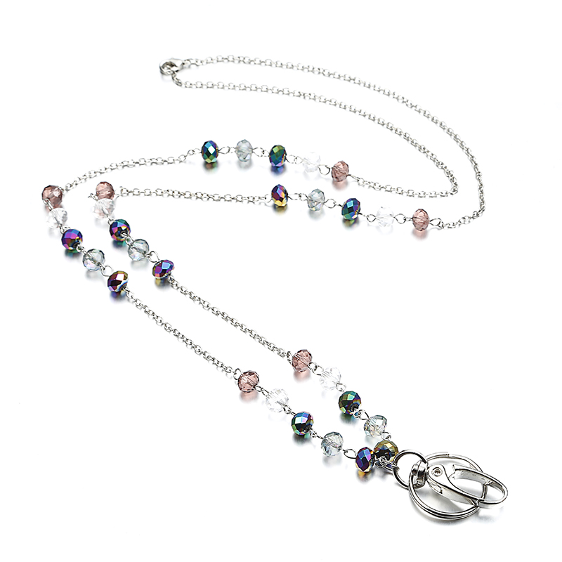 New Fashion Crystal Badge Lanyards ID Necklaces ID Badge Holder for teachers, nurses and ...