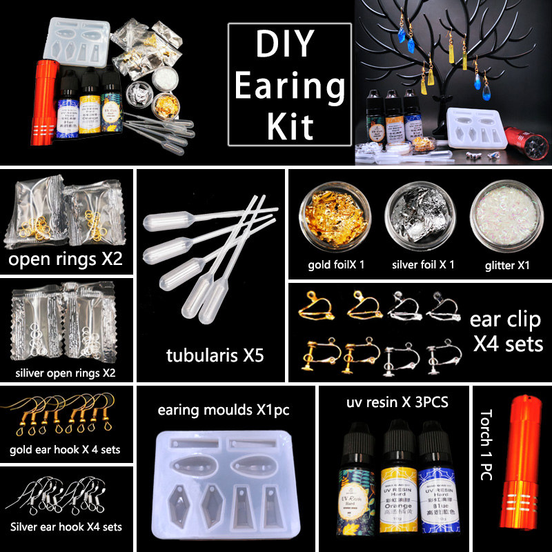 29pcs/lot Diy Earings Findngs Kits Diy Jewelry Making Earings Fashion Jewelry Earing Clips Earing Hook Women's Earrings Clothing