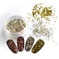 1pcs DIY Glass Broken Gold/Silver/Rose Decor Accessory Nail Art Rivet Glitter Shinning Tips Cool Decorations ND289