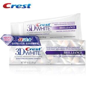 Image 5 - Crest diş macunu 3D beyaz Brilliacnce florid Anticavity diş diş derin temiz ağız sağlığı bakımı Squzzer diş macunu 116g