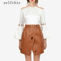 2018 Office Women Faux Leather Mini Skirts
