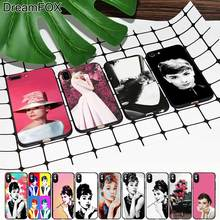 M383 Audrey Hepburn Black Soft TPU Silicone Case Cover For Apple iPhone 11 Pro XR XS Max X 8 7 6 6S Plus 5 5S 5G SE