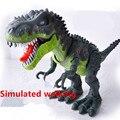 48 cm tamagochi robo Llegada Modelo Animal Eléctrica Realista Tiranosaurio Dinosaurio Batería Intermitente Simulada caminar Juguetes de regalo