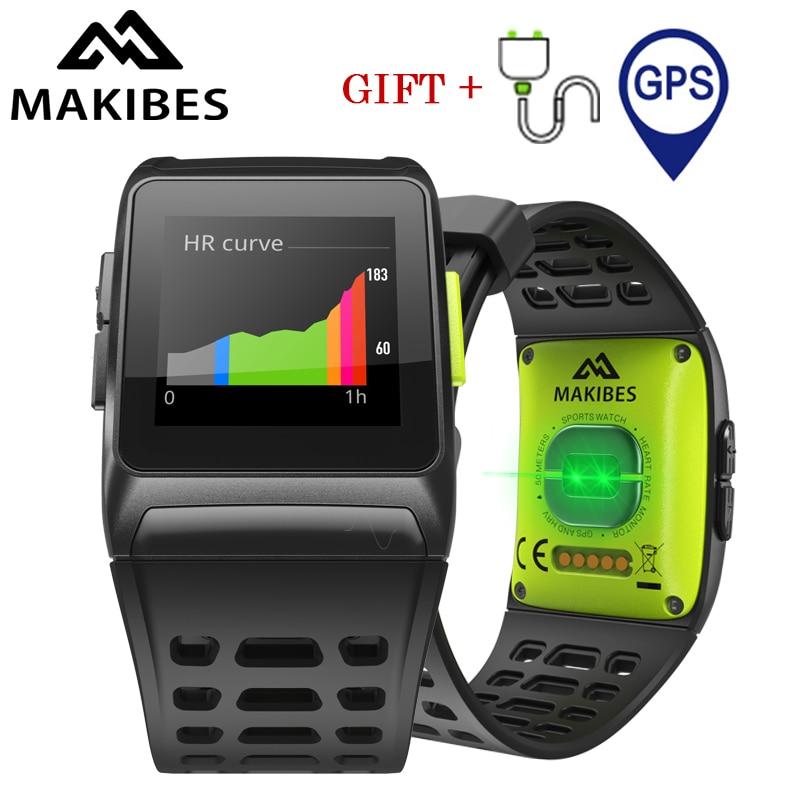 все цены на NEW Makibes BR1 GPS Sports Wristwatch Strava Waterproof IPS color screen Dynamic Heart rate tracker Smart Watch For IOS Android онлайн