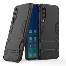 цена Armor Shockproof Case For Xiaomi Mi 9 SE Mi9 SE 3D Shield PC+Silicone Phone Case Cover For Xiaomi Mi 9 SE Mi9 SE Case Fundas онлайн в 2017 году