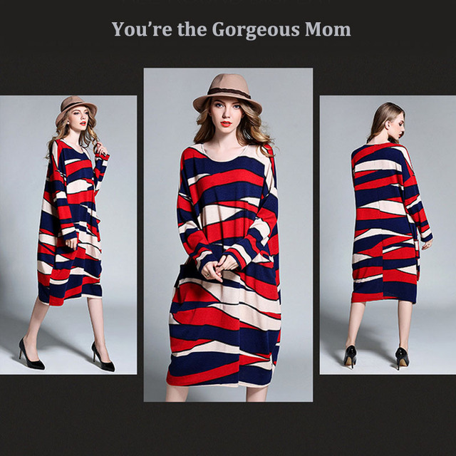 Red color contrast dresses for mother