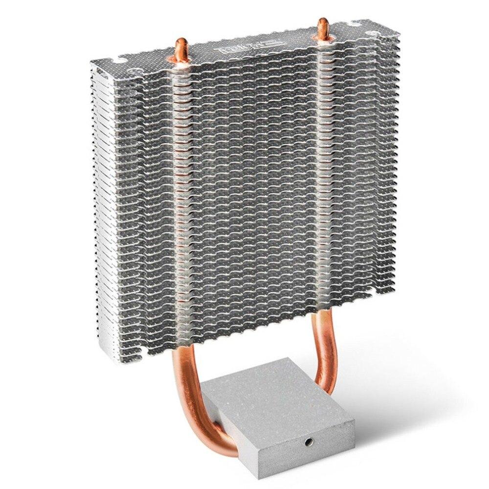 PCCOOLER Cooler 2 Heatpipes Dissipador De Alumínio Do Radiador Motherboard Northbridge Refrigerador Suporte 80 milímetros Ventilador CPU