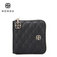 Hongu Роскошные Дизайн маленький клатч Вечерние сумки Для женщин сумка кожаная сумка Портмоне Card ID бумажник кошелек мода