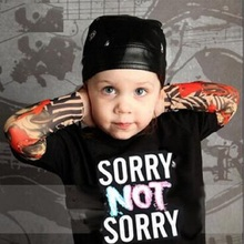 Boy Clothing Cotton T-shirt Long Sleeve Tattoo Sleeve