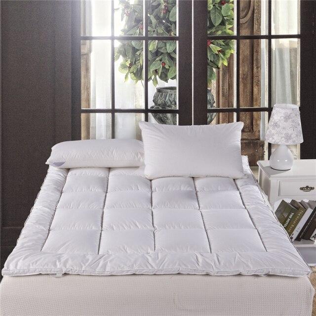 Almohadilla de protección de cama blanca acolchado colchón protector ...
