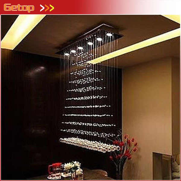 Modern Rectangular Chandeliers compare prices on modern rectangular crystal chandelier- online