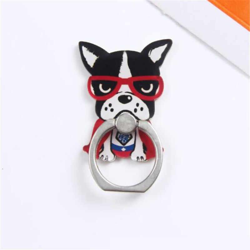 UVR 360 Graus Cool Dog Animal Dedo Titular Anel Titular Suporte Do Telefone Móvel Para iPhone/Samsung/Xiaomi Anel todo o Suporte Do Telefone