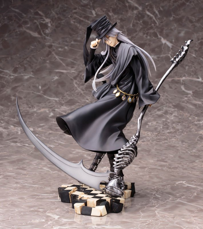 Huong Anime Figure 25CM Black Butler Under Taker Book of Circus PVC Action Figure Toy Collectible Model Gift Doll anime cardcaptor sakura figma kinomoto sakura pvc action figure collectible model toy doll 27cm no box
