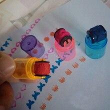 3 секции комбинированные ручки форма наборы штампов цикл Ролик Штамп Дети DIY ручной работы скрапбук фотоальбом студенческие штампы искусство игрушка