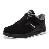 2017 Trendy Running Shoes For Men Black/Grey Warm Jogging Shoes For Men Running Trainers With Fur Winter Popular Sneakers Men