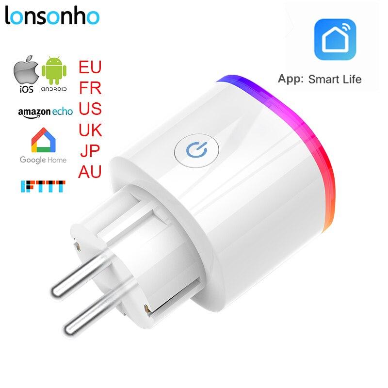 Lonsonho Smart Stecker Wifi Smart Buchse Power Monitor EU Frankreich UNS AU UK Korea Stecker Outlet Arbeitet Mit Google Hause mini Alexa IFTTT