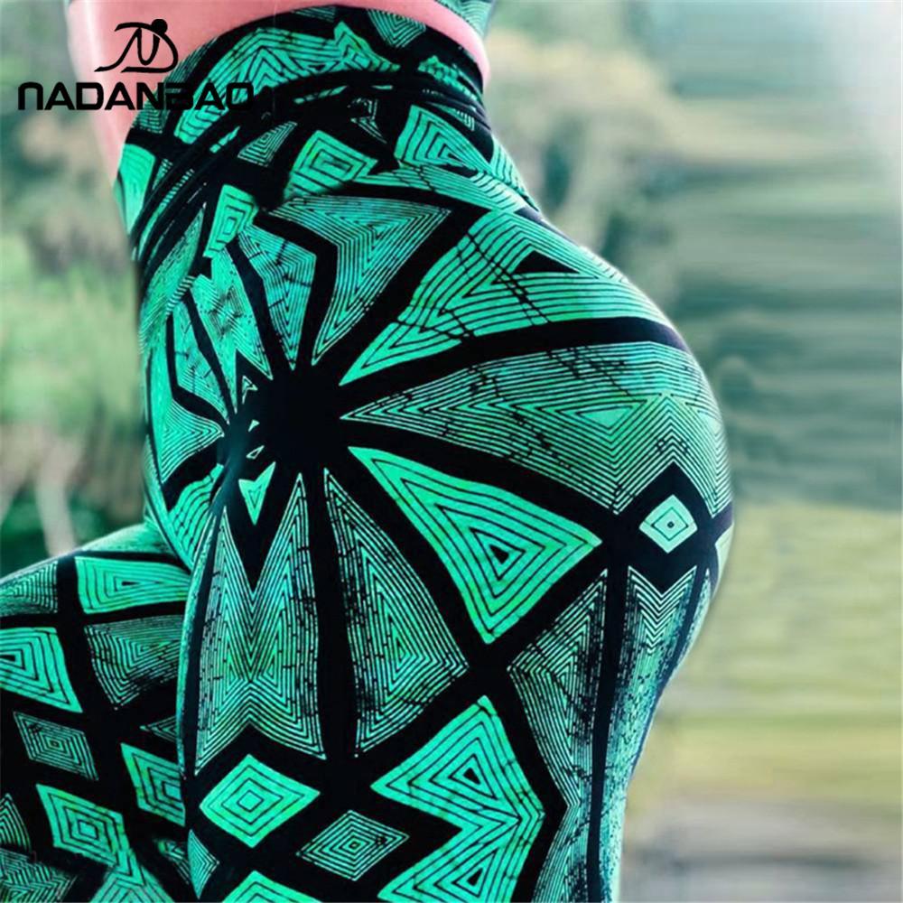 NADANBAO Push Up Slim Fitness Leggings For Women 3D Printed Cobweb High Waist Sweatpants Casual Elastic Slim Workout Pants