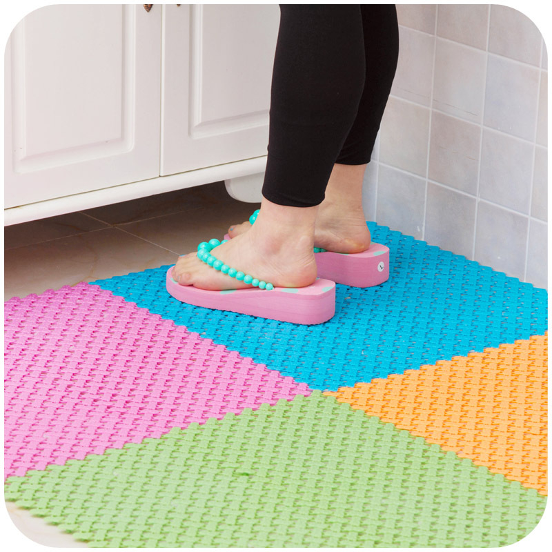New Arrival Cheapest Candy Color DIY Kitchen Bath Mats 30*30cm Easy ...