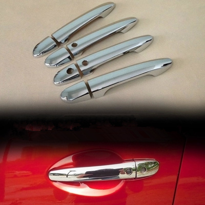 Chrome Door Handle Cover with cup Bowl for Mazda 2 3 6 2010 2011 2012 2013 2014