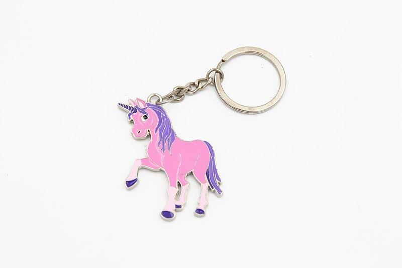 Llavero con unicornio clave cadena anillo de Metal cubierta de las Llaves del coche bolso encanto baratija chaveiro llaveros Anahtarlik Llaves Brelok