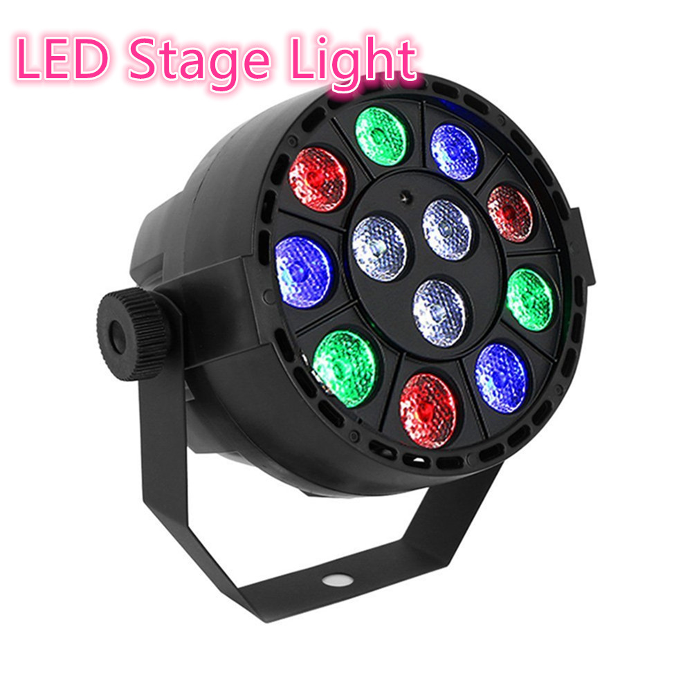 RGB 8 Channel LED Stage Light with12 LED Par Light RGB PAR LED DMX Stage Lighting Effect KTV Bar Club Wedding DJ Live Show 8pcs lot 24x18w led par light rgb par64 dmx par stage lighting