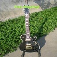 Venta Al Por Mayor De China Guitar Lp Custom Oro Hardware Con Traste Vinculante Balck Belleza