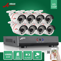 ANRAN Plug Play 8CH Hybrid HD AHD DVR 1800TVL 720P Waterproof Outdoor 24 IR Day Night