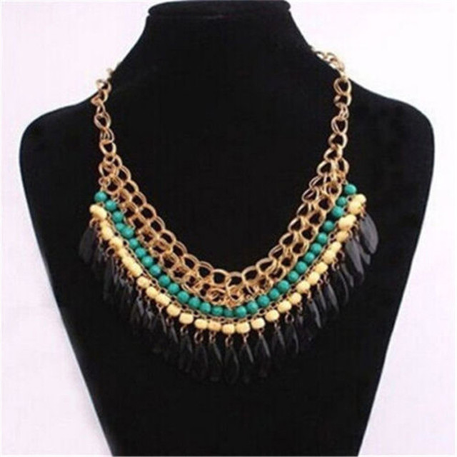 7a84aa9fbf66 Declaración Waterdrop Collar de Plata Collar de Cristal de Bohemia Bijoux Bisuteria  Collares Mujer Joyas Collana