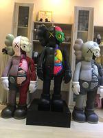 [Новый] Оригинальные бутафорские фигурки kaws 130 см 4ft kaws рассекся 1:1 Коллекция Фигурки игрушки OriginalFake модель украшения дома подарок