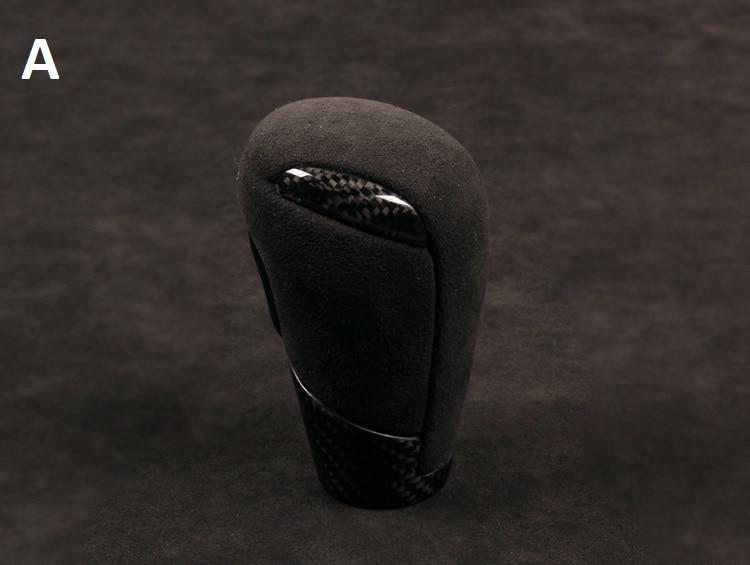 Otomobiller ve Motosikletler'ten Vites Kolu Topuzu'de Fit MAZDA AXELA ATENZA CX 4 CX 5 karbon fiber Vites topuzu vites topuzu title=