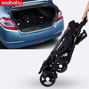 Image 5 - Seebaby Fold Twins 베이비 유모차 Double Pram Two Seat Can Stand/신생아 아기와 어린이 캐리지 유모차