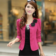 Spring Autumn Women Blazers Slim Short Coat Female Single Breasted long-sleeved Suit Coat ,fashion Women Blazer Coat TT653
