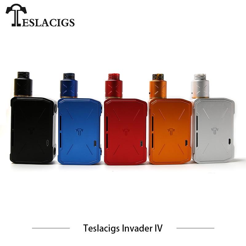 Teslacigs Nouvelles Cigarettes Électroniques Kit Teslacigs Envahisseur IV Kit Tesla 4 Boîte Mod RDA Vaporisateur 280 w Double Bobine RDA vaporisateur Vaper