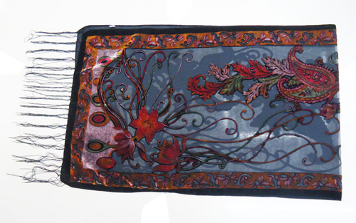 Новые горячие Испания кешью цветы шарфы для женщин выгорания бархат шаль женский весна зима подарок мама, жена - Цвет: orange