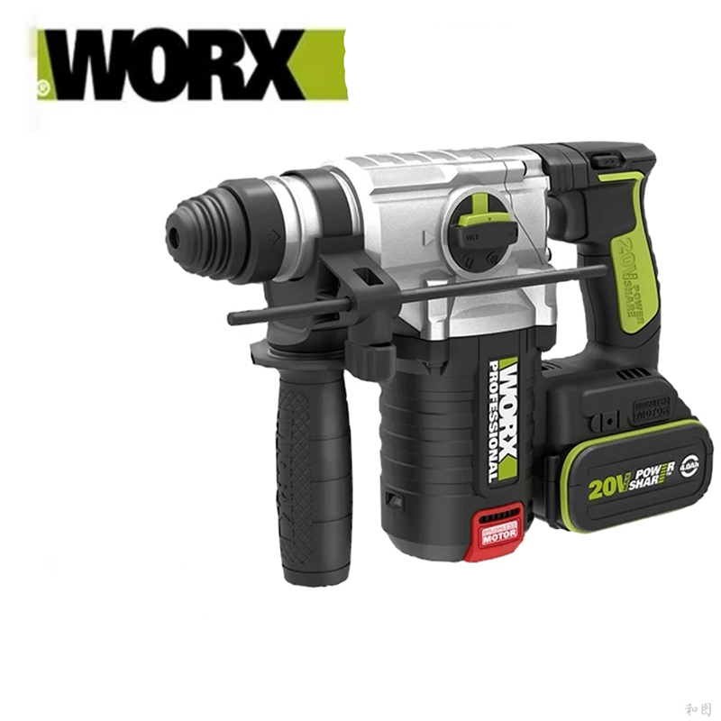 New Electric Cordless hammer drill Worx Professional Hammer drill WU388 Brushless motor Hammer drill