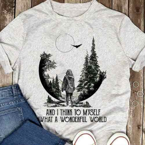 Forest I Think To Myself What A Wonderful World Men Sport Grey T Shirt S-6XL Cool Casual pride t shirt men Unisex Fashion