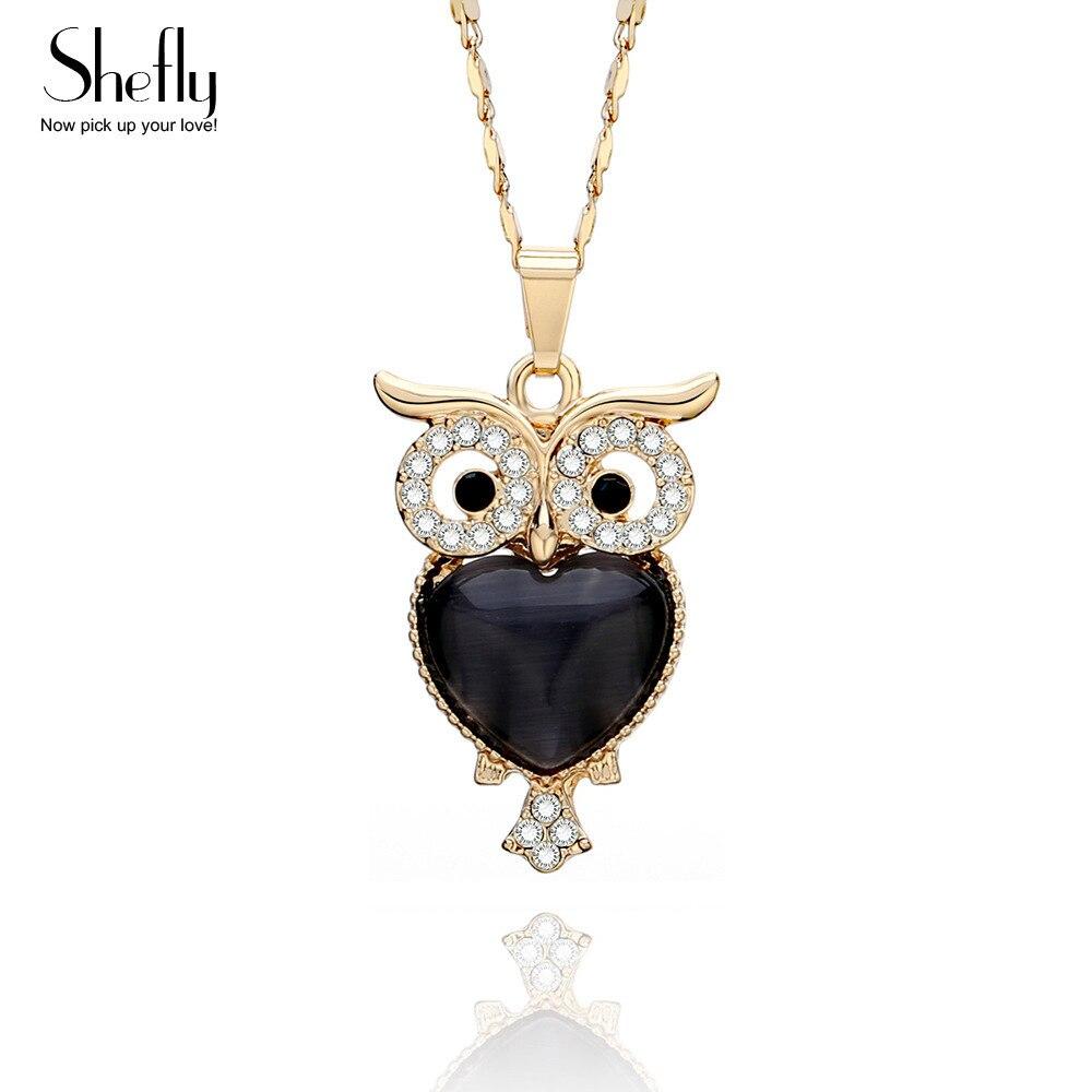 2018 New Zinc Alloy Cute Little Owl Necklaces AAA CZ Pendants
