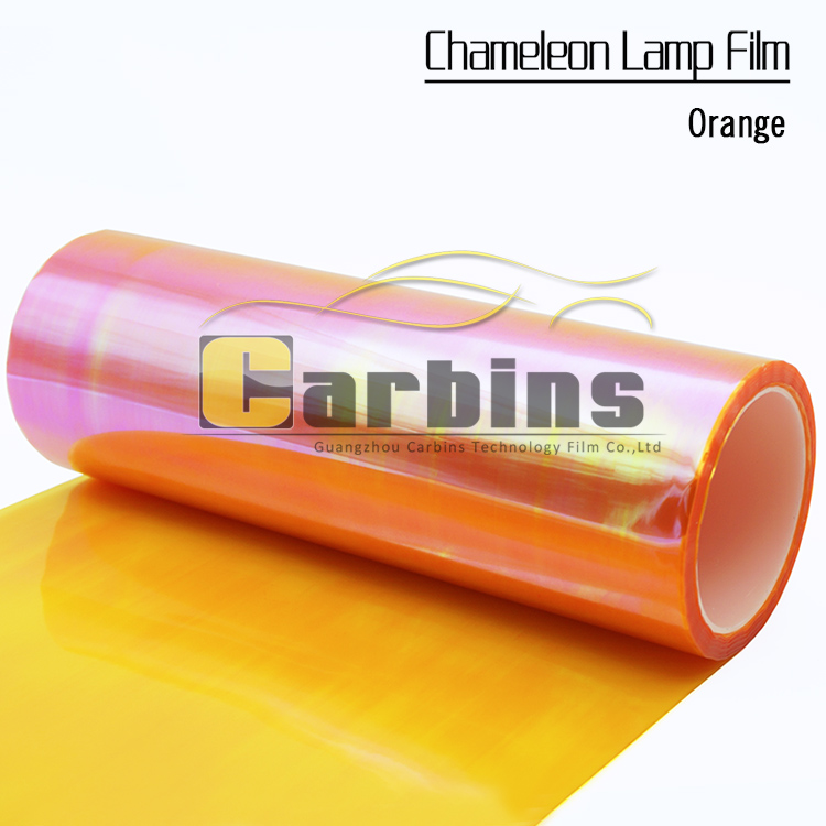 One roll Orange chameleon car lights protection film auto LED sticker 0.3*10m free shipping