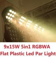 2016 Sales LED Par Stage Light 9x15W 5in1 RGBWA LED Par Can Hiqh Quality Par Light DMX512 Disco DJ Party KTV Lighting Projector