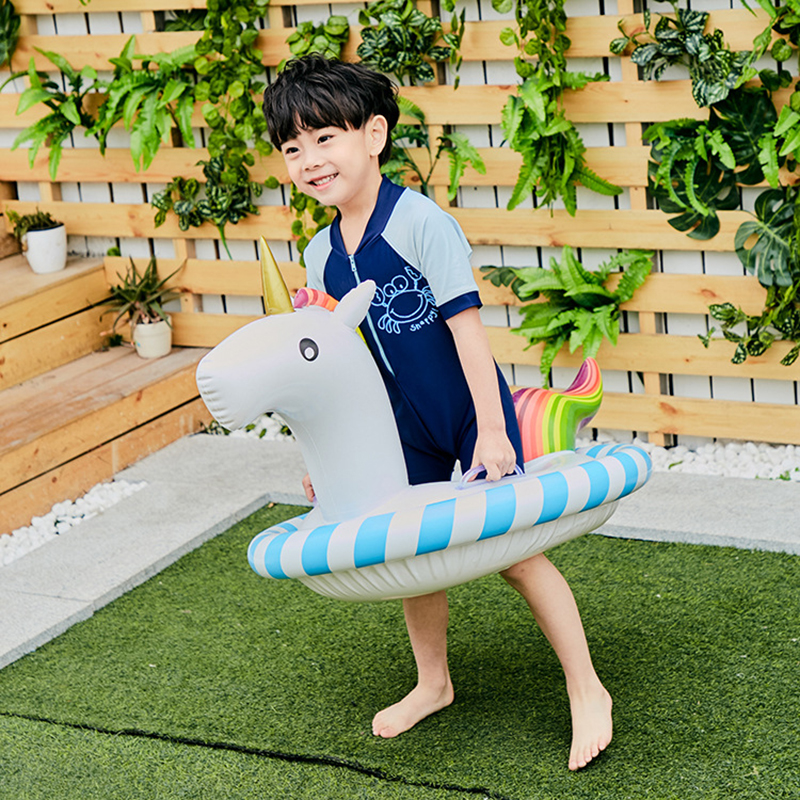 Baby Swimming Ring Colorful Unicorn Seat Inflatable Pool Float Baby Summer Water Party Fun Pool Toy for Kids Swim Circle Piscina