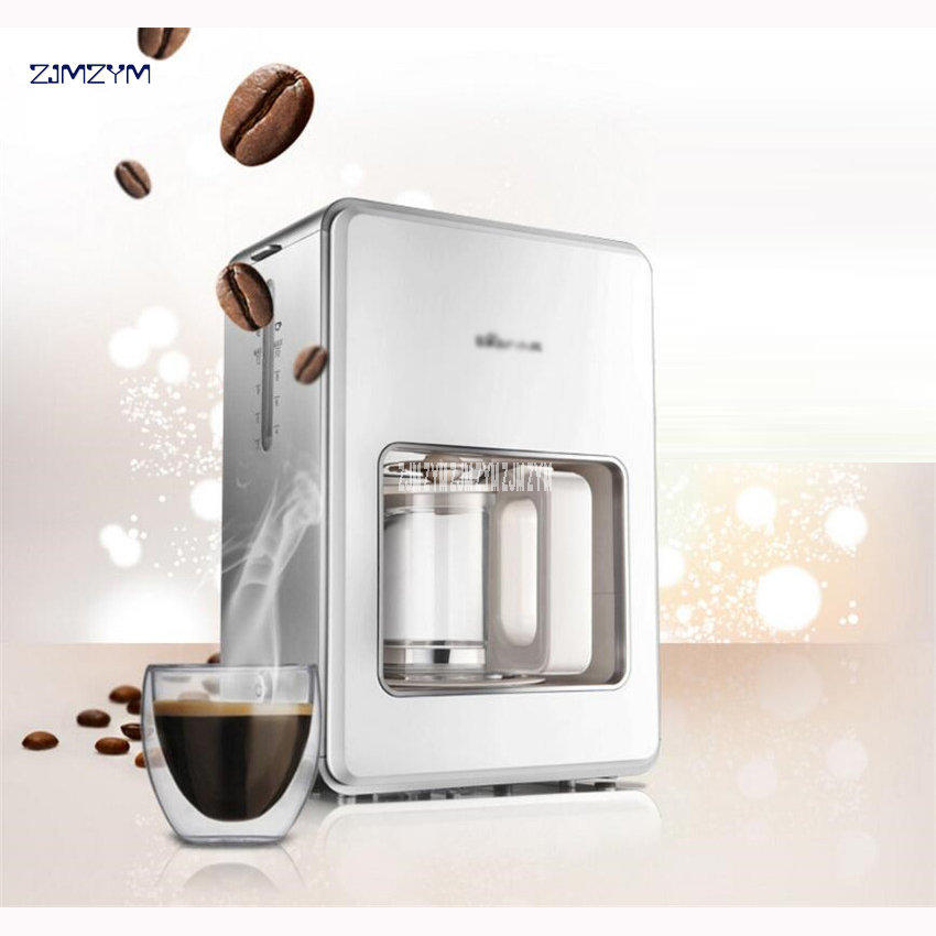 KFJ-A12Z1 Automatic Coffee Makers DIY Drip Mini Household Coffee Machine Intelligent Portable Electric Cafeteira Maker 1200ml home intelligent fully automatic american style coffee machine drip type small is grinding ice cream teapot one machine
